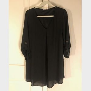 Nordstrom Lush Black Long Sleeve Dress